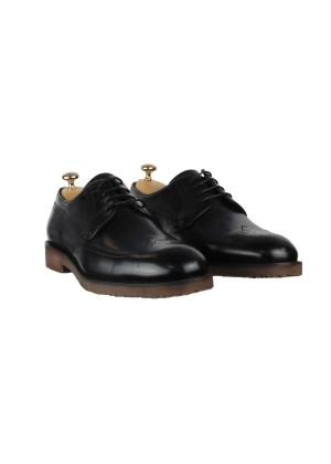 Туфли коричневые броги на полиуретановой подошве