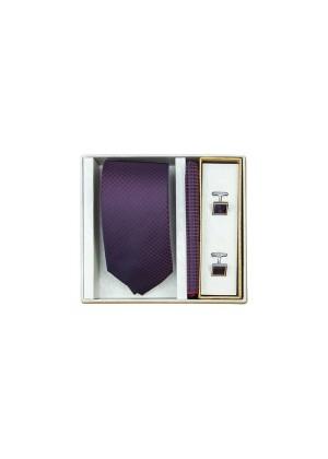 Набор подарочный фиолетовый в мелкую клетку