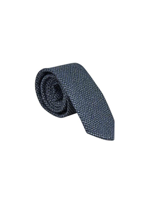 Синий галстук шерстяной