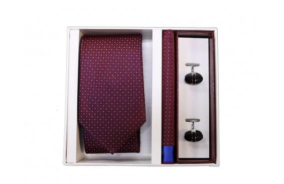 Набор подарочный: галстук, платок, запонки