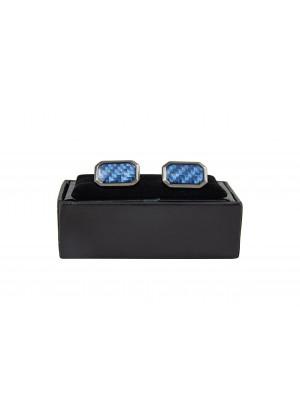 Запонки с голубой отделкой