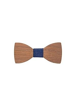 Бабочка деревянная с отделкой из синего джинса