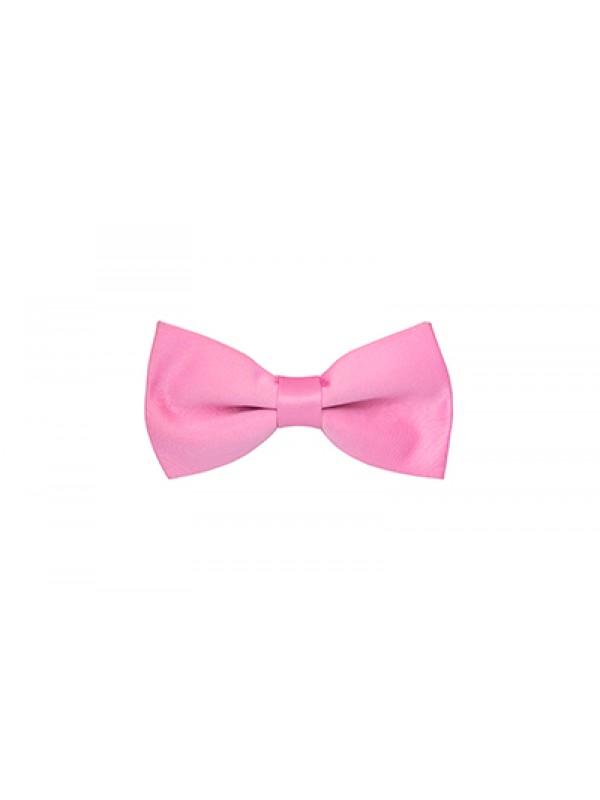 Бабочка розовая атласная