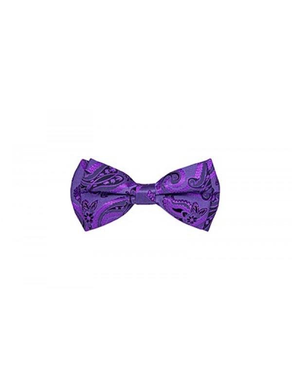 Бабочка фиолетовая жакард