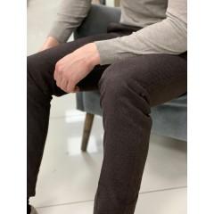 Брюки коричневые casual с лайкрой