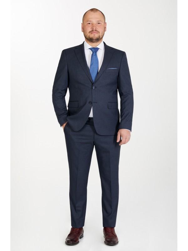 Костюм классический синий , полуприталенный силуэт