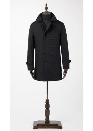 Куртка темно синяя двубортная  утепленная
