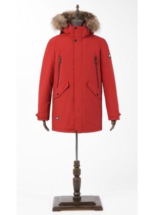 Куртка зимняя красная с мехом