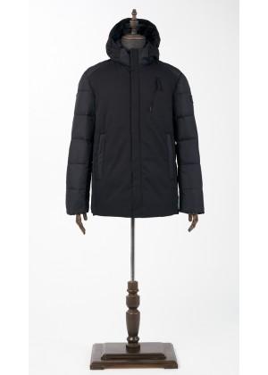 Куртка синяя укороченная зимняя