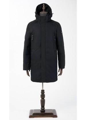 Куртка - парка синяя зимняя удлиненная