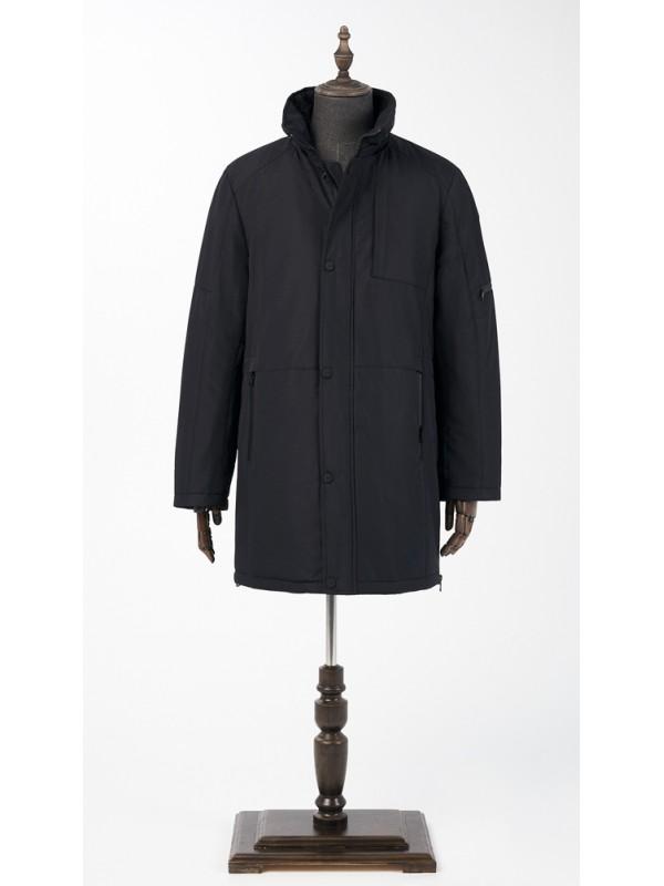 Куртка зимняя черная  удлиненная