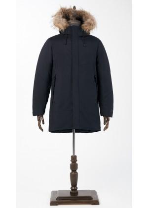 Куртка зимняя синяя с мехом