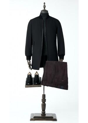 Куртка черная удлиненная