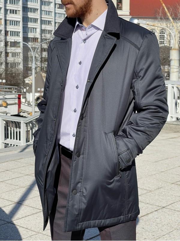 Куртка синяя классическая  утепленная