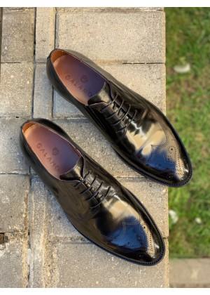 Туфли в больших размерах черные глянцевые