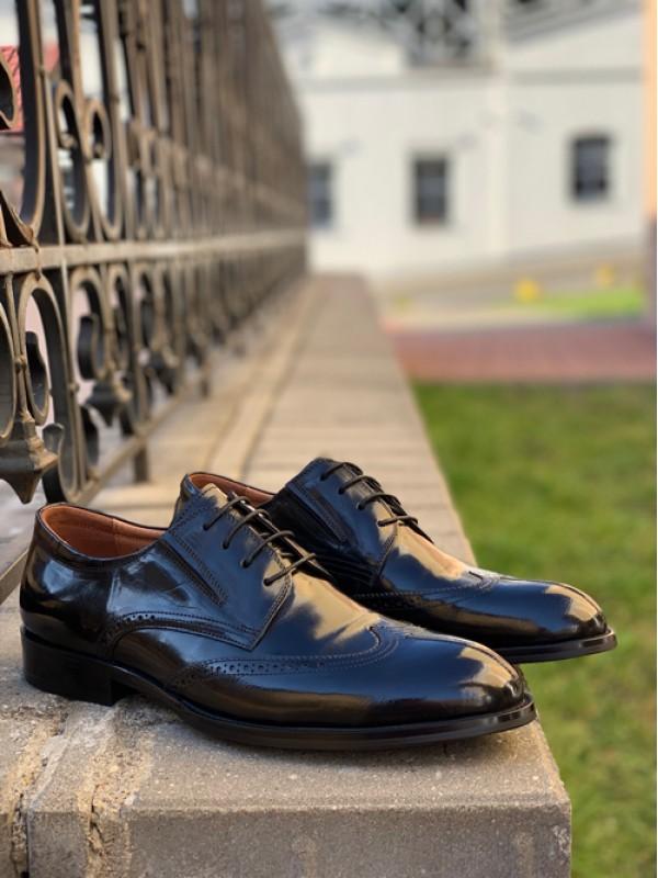Туфли черные глянцевые
