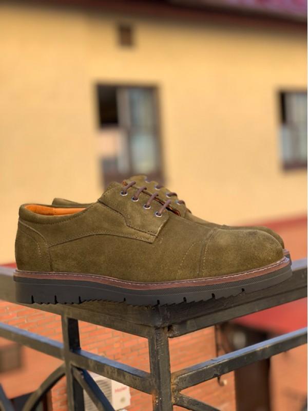 Туфли хаки замшевые