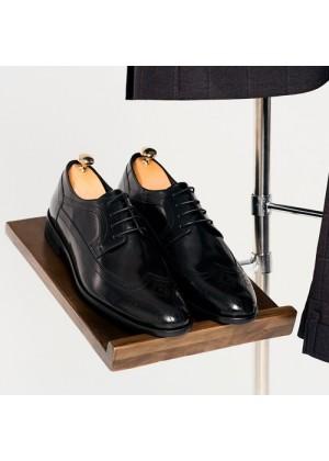 Туфли дерби  черные с брогированным носом
