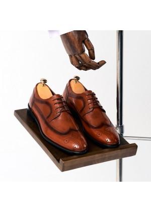 Туфли дерби  рыжие