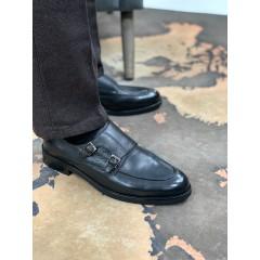 Туфли монки черные