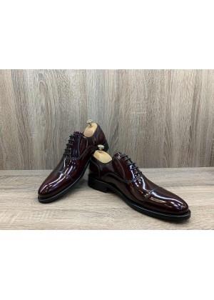 Туфли Оксфорды вишневые матовый лак