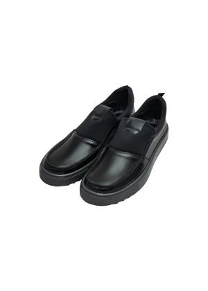 Туфли черные на спортивной подошве