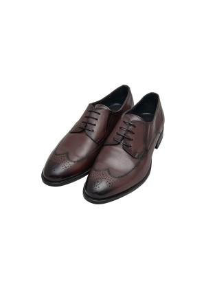 Туфли бордовые дерби