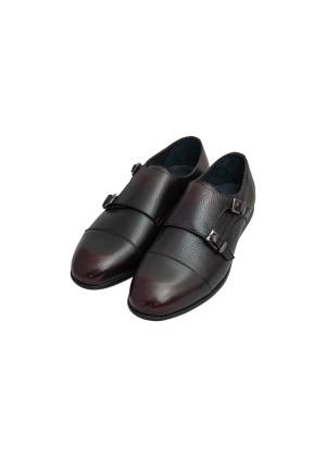 Туфли бордово коричневые монки