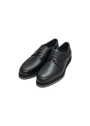 Туфли черные на сплошной подошве