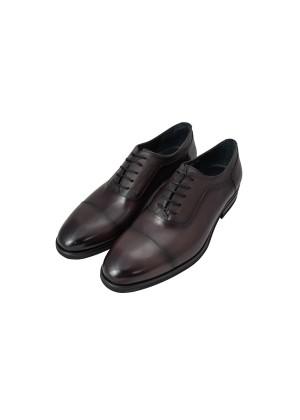 Туфли оксфорды бордовые с отделкой