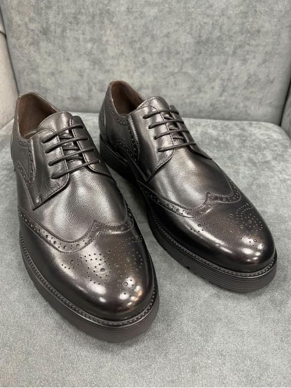 Туфли броги черные