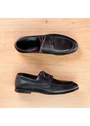 Туфли мокасины классические темно-коричневые