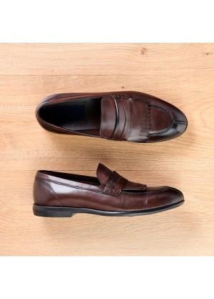 Туфли лоферы рыжие