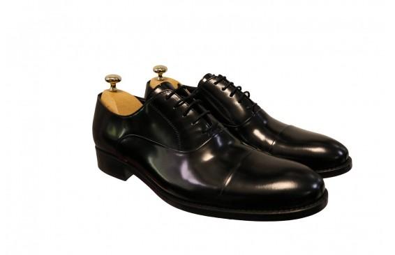 Туфли черные оксфорды матовый лак