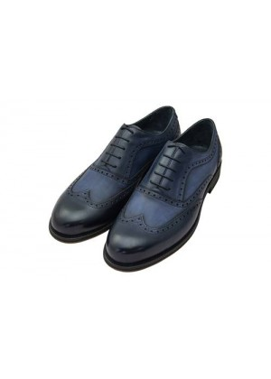 Туфли броги синие