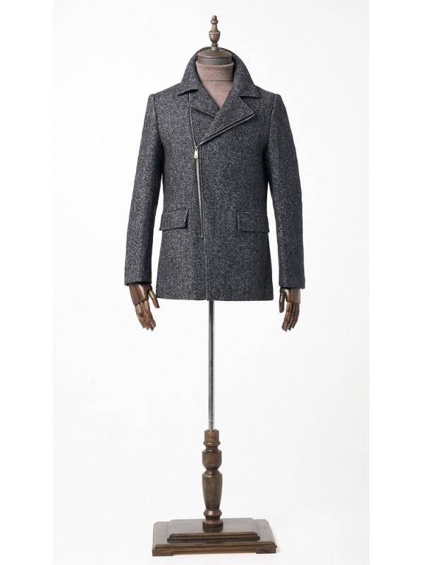 Пальто серая елочка, косуха