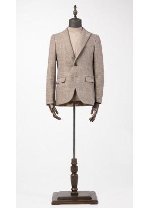 Пиджак бежевый фактурный