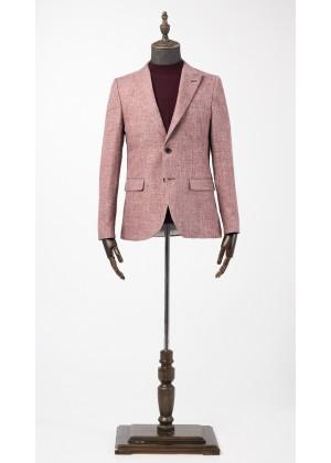 Пиджак розовый фактурный со стрейчем