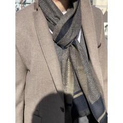 Пиджак твидовый бежевый