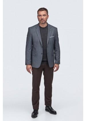 Пиджак серый твид