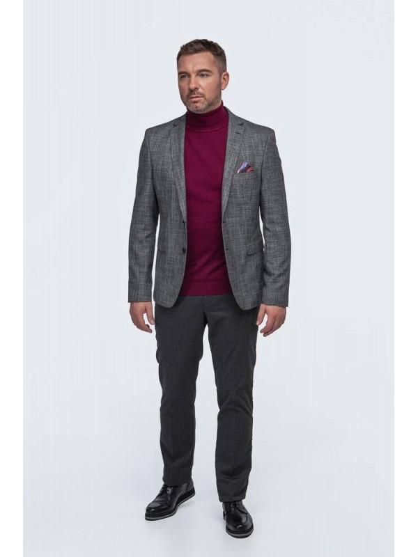 Пиджак серый меланж