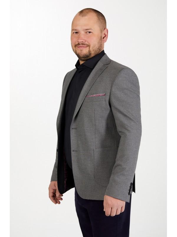 Пиджак серый  в белую полоску