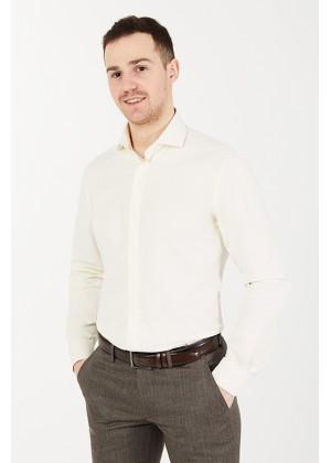 Рубашка айвори с лайкрой , ткань фактурная