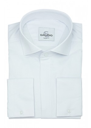 Рубашка белая итальянский воротник