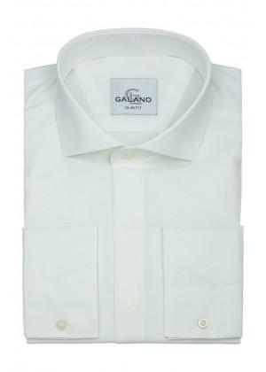Рубашка айвори с итальянским воротником