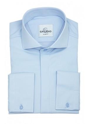 Рубашка голубая со стрейчем