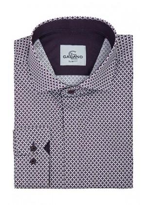 Рубашка  в рисунок цвета марсала