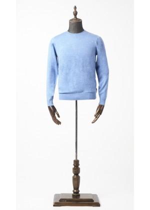 Джемпер голубой, круглый ворот